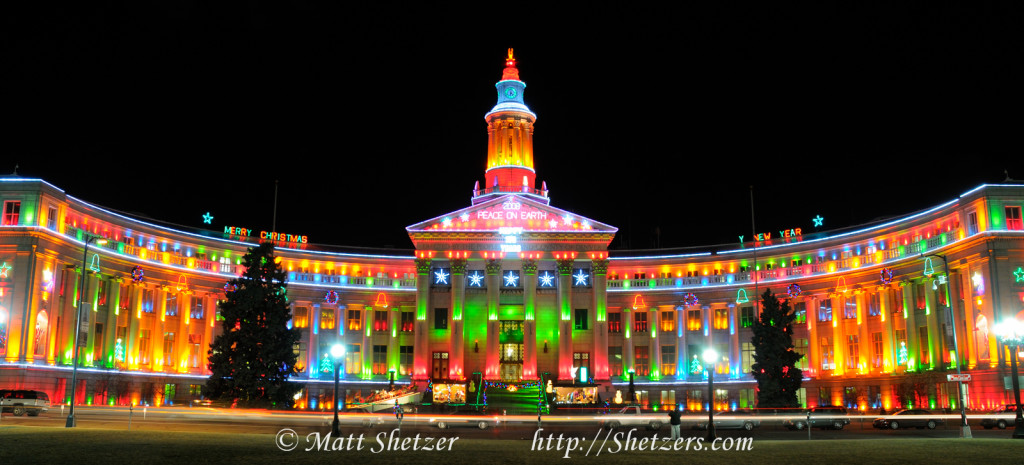 City and Country Building in Denver Colorado Christmas