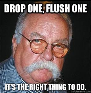 Drop-One-Flush-One